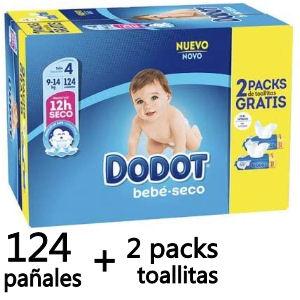 Pack de pañales Dodot con toallitas gratis