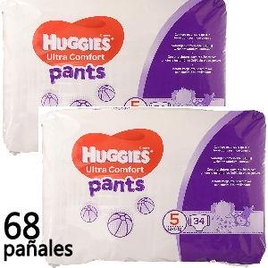Pañal huggies braguita talla 5 para niños de 12 a 17 kg. 68 pañales