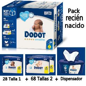 Pañales Dodot para recién nacido pack