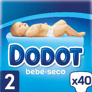 Pañales Dodot talla 2 para bebés de 4 a 8 kg., pack de 40 pañales