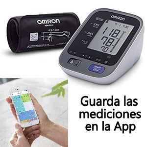 Tensiómetro de brazo con bluetooth, para hacer un seguimiento desde el moviles con la app Omron