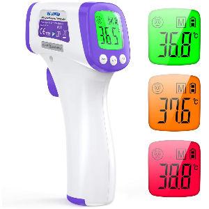 Termómetro infrarrojos sin contacto, termómetro frontal con pantalla digital